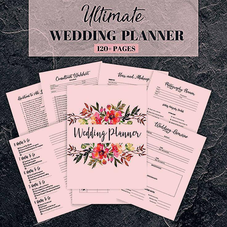 Photo of Wedding Planner Printable, Wedding Planning Book, Printable Wedding Planner, Wedding Binder T…
