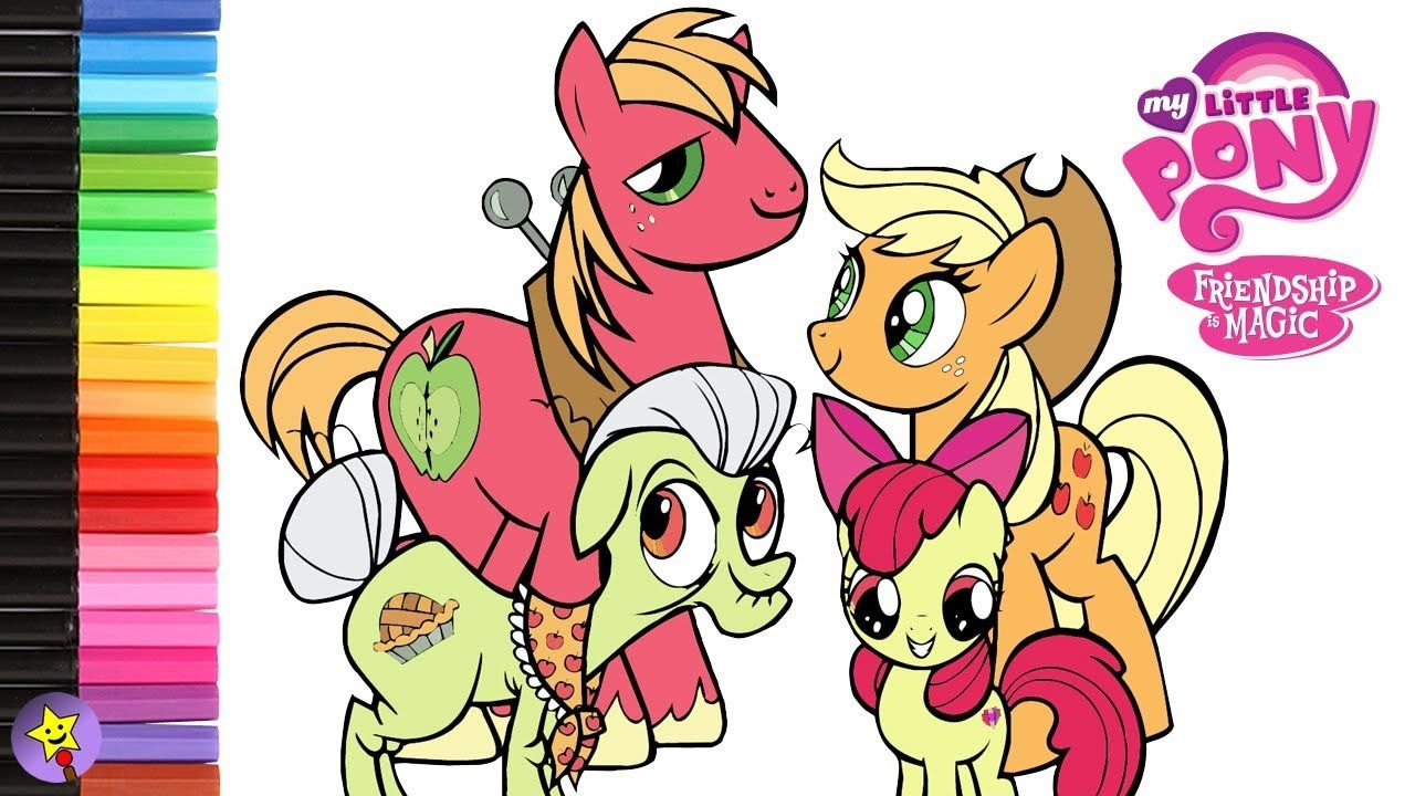 My Little Pony Apple Family Coloring Book Page Video Applejack Coloring Book Page Apple Bloom Colo My Little Pony Coloring Coloring Books Family Coloring Pages