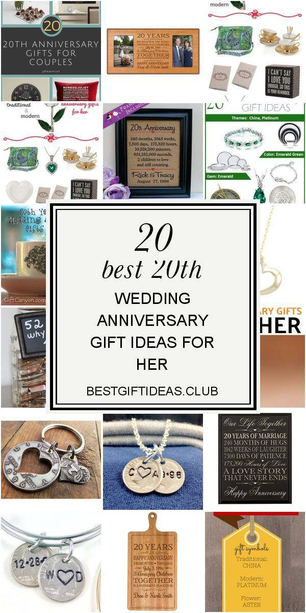 20 Best 20th Wedding Anniversary Gift Ideas for Her