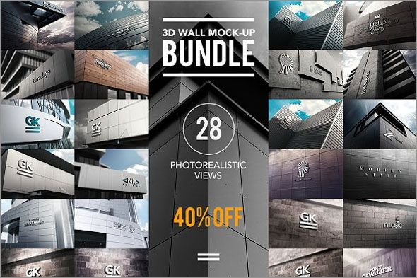 100+ Fabulous Photo Realistic 3D Logo Mockups | 3d logo, Mockup and ...