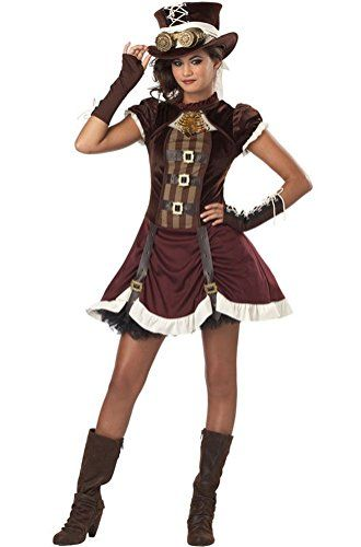poplife rock star steampunk girl tween halloween costume be sure rh pinterest com cute halloween costumes for teenage girls diy halloween costumes for
