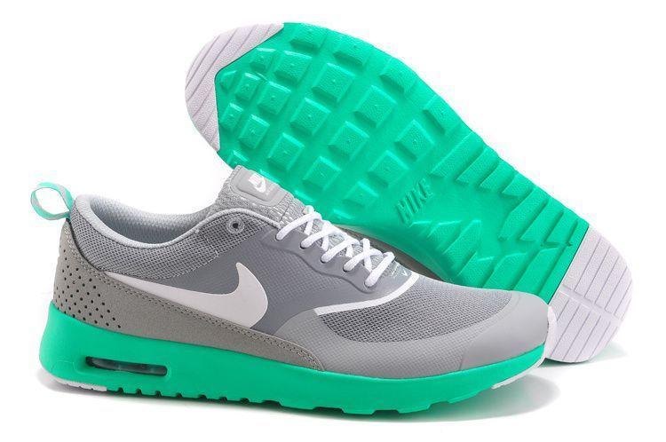 chaussure nike air max noir homme air max thea gris et verte pas cher
