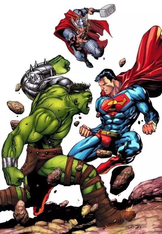 the hulk vs superman and thor everything pinterest
