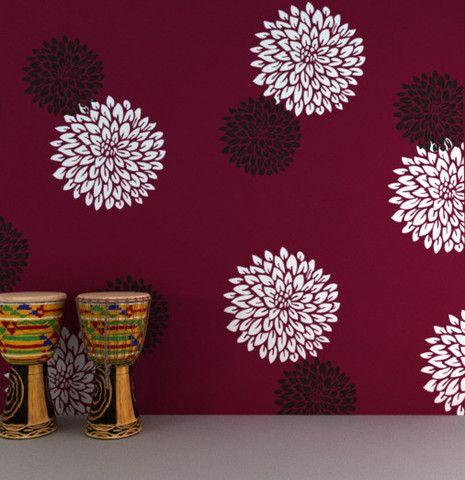 Flower Painting Stencils Stencil Designs Fs 05 Flower Wall Stencil Wall Painting Decor Stencils Wall