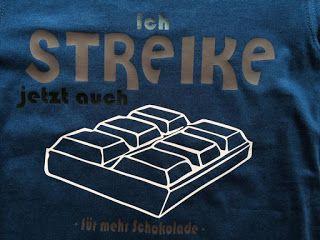Katjas Kreativstube: Freebie - Streiken Schokolade
