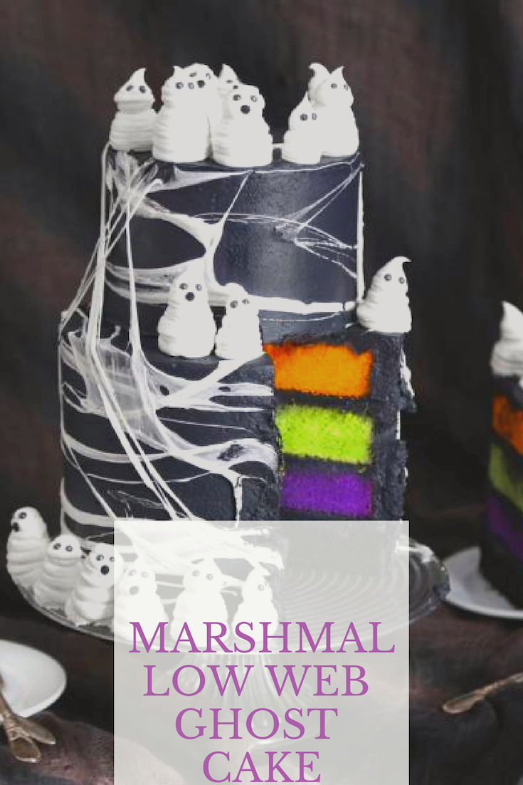 Marshmallow Web Ghost Cake With Images Ghost Cake Spider Web