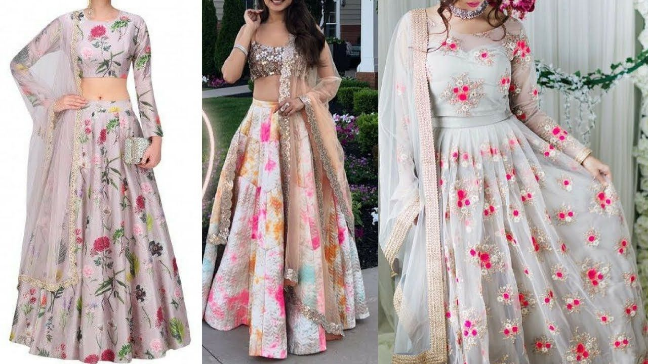New Crop Top Lehenga Designs Stylish Lehenga Crop Top Design For Girl Lehengacroptopdesigns2018 Stylishlehe Lehenga Designs Formal Dresses Long Fashion