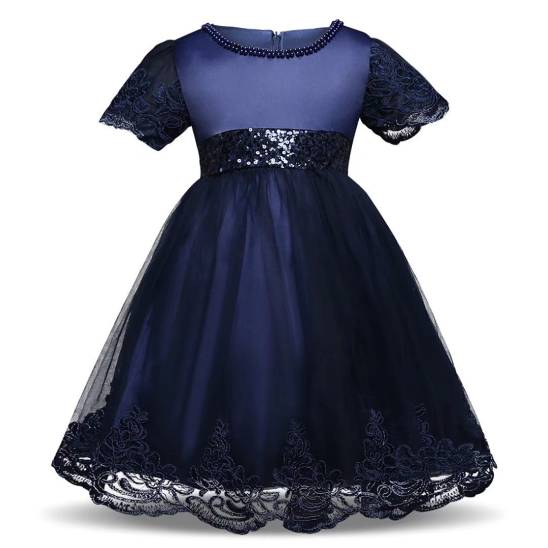 009f63302a1 Kids Showtime Baby Girl Short Sleeve Sequined Pageant Dress Wedding Party  Gowns Navy Blue1824M     Learn more by visiting the image link.