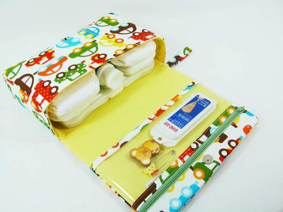 Cars Diaper Clutch With Clear Zipper Pouch Bag