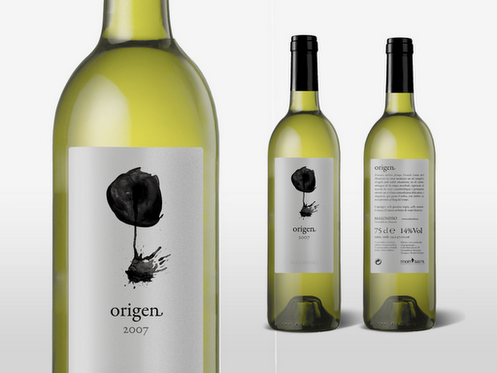 "Diseño para Vino ""Origen"" Malondro por Diego Moreno"