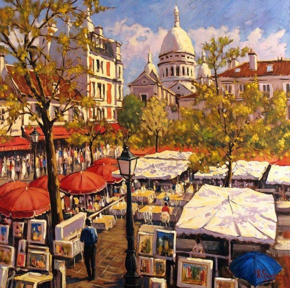 cuadros al oleo paisaje urbano pintura paisaje urbano óleo sobre ...
