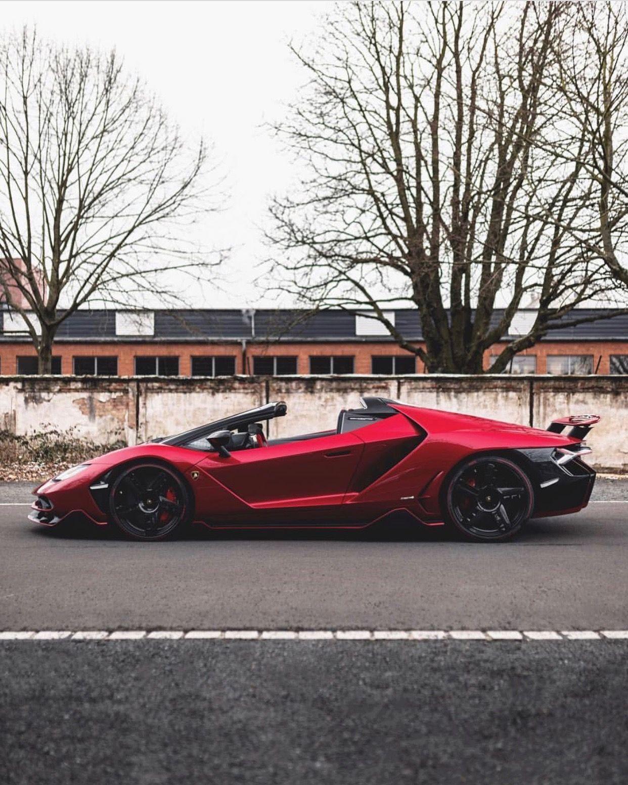 Lamborghini Centenario Roadster Painted In Rosso Efesto W A Black