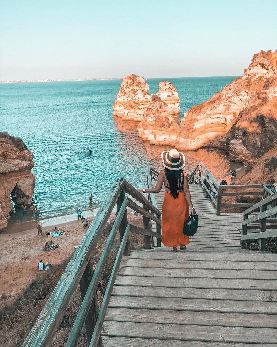 Beautiful Places To See In Lagos At The Algarve In Portugal Schone Orte Die Man In Lagos An Der Fotografia De Cidades Arraial Do Cabo Fotos Roupas De Portugal