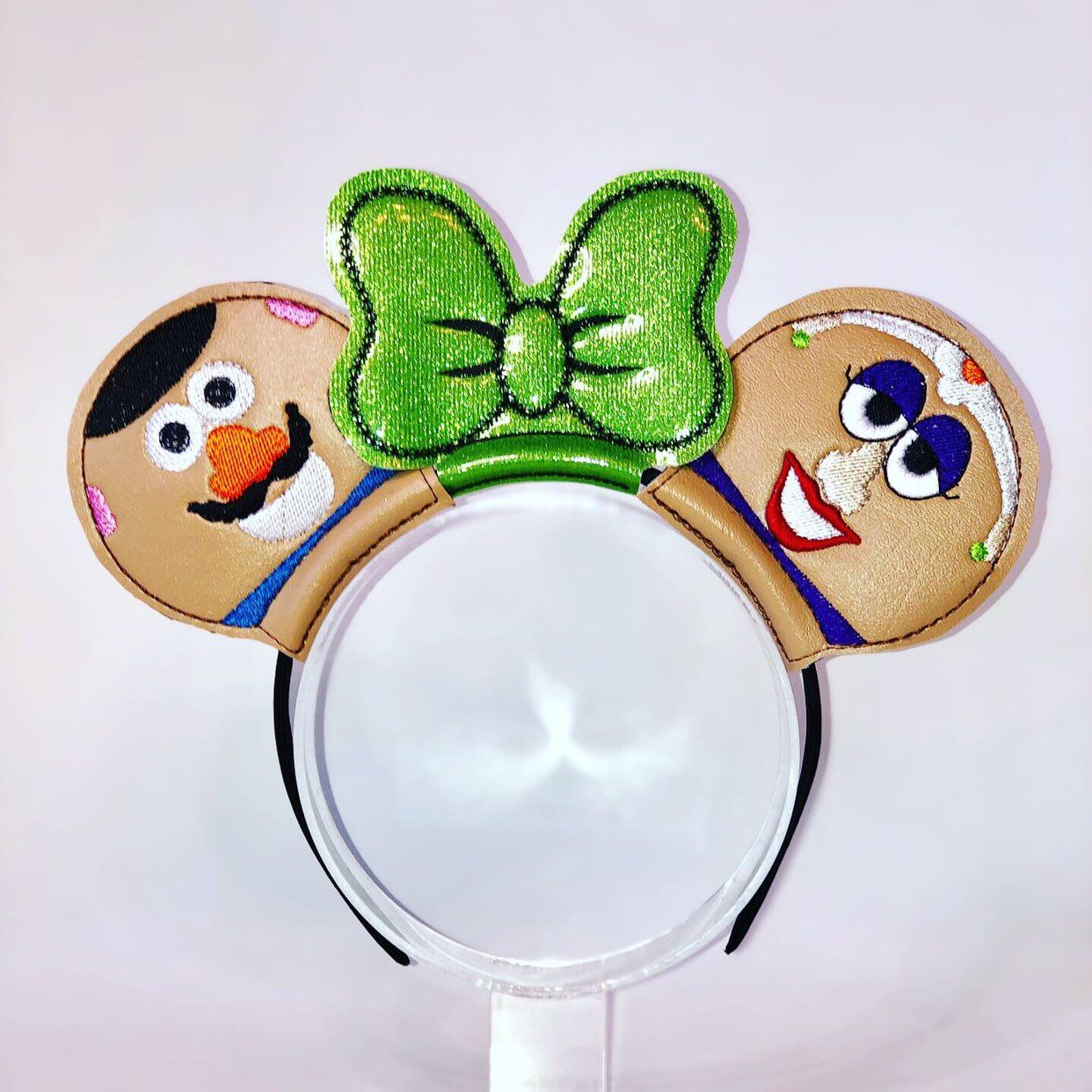 Potato Head Inspired Embroidered Mask Mrs