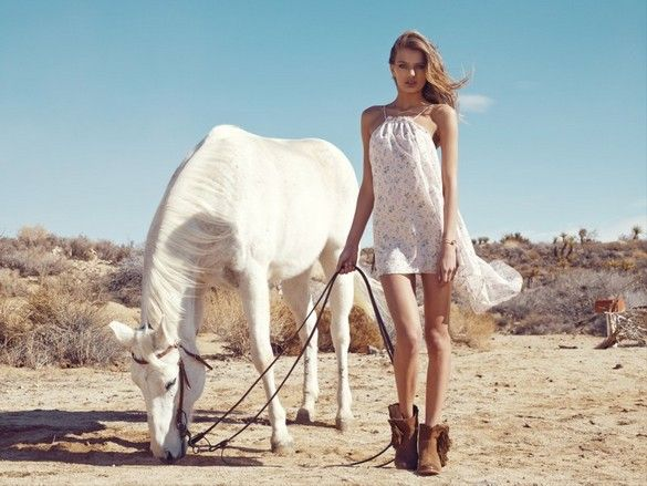 http://pegasebuzz.com/leblog/ | Horse in Fashion with Bregje Heinen by Christopher Shintani for Revolve Clothing, spring 2013 lookbook