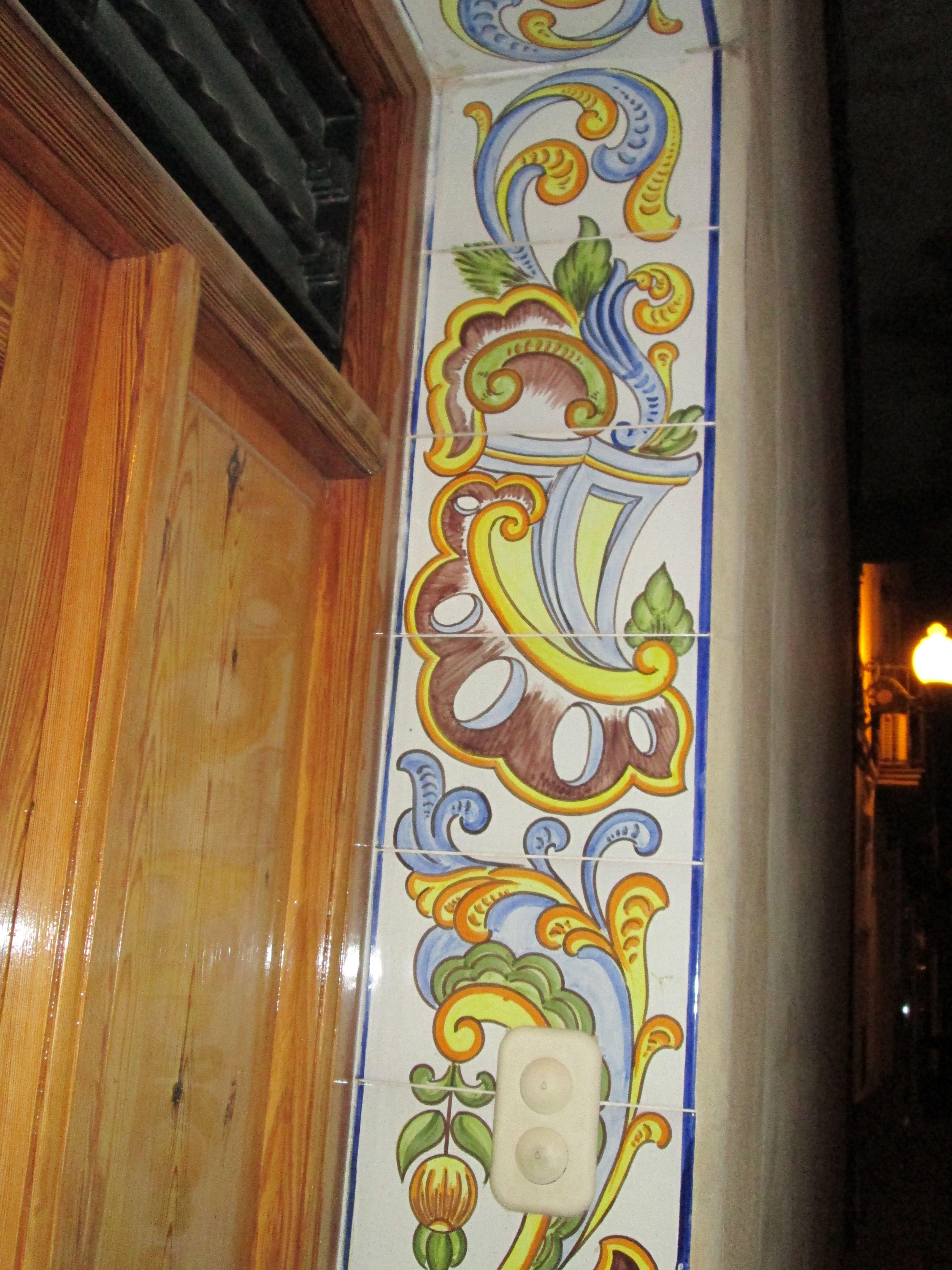 decoracin jambas puertas pintado a mano