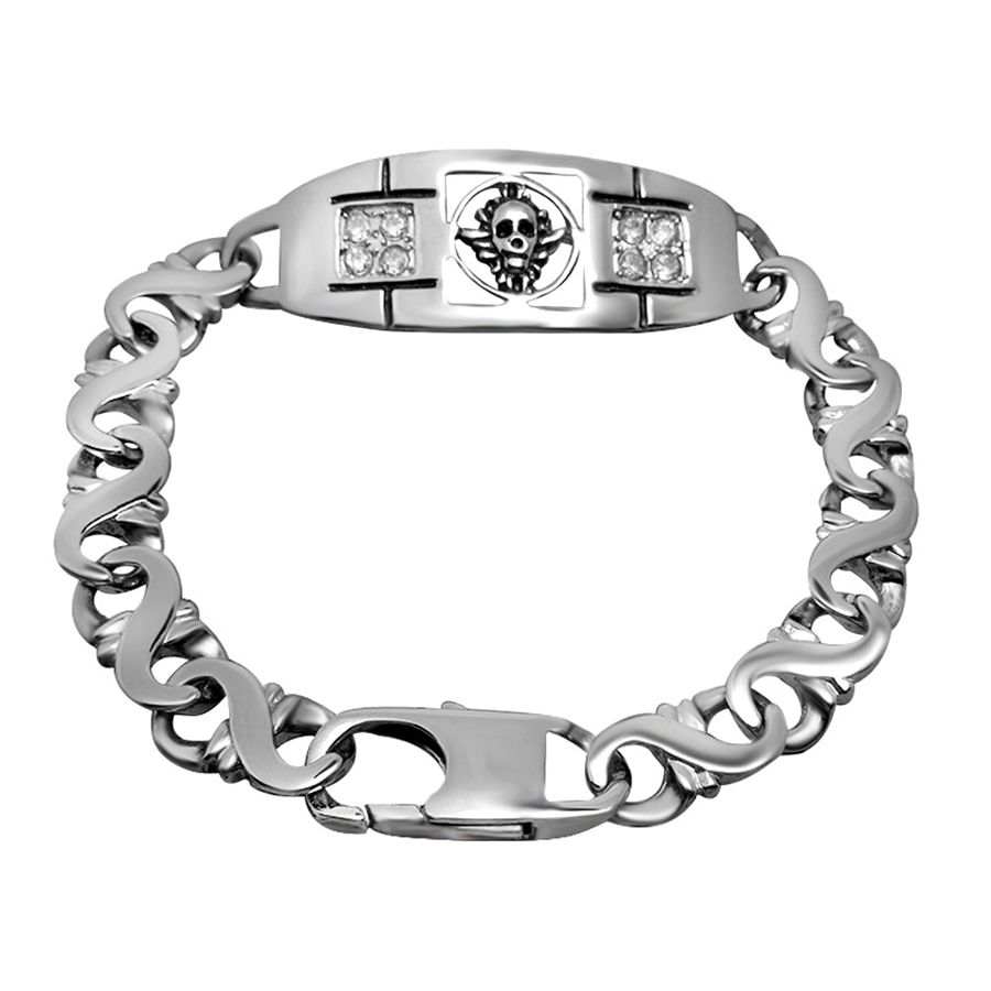 Designer wristband rock and roll new sale stainless steel bracelet