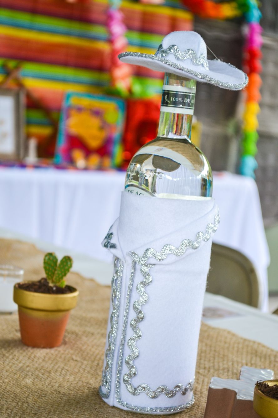 Fiesta Decor Charro Dressed Tequila Bottles Parties Pinterest