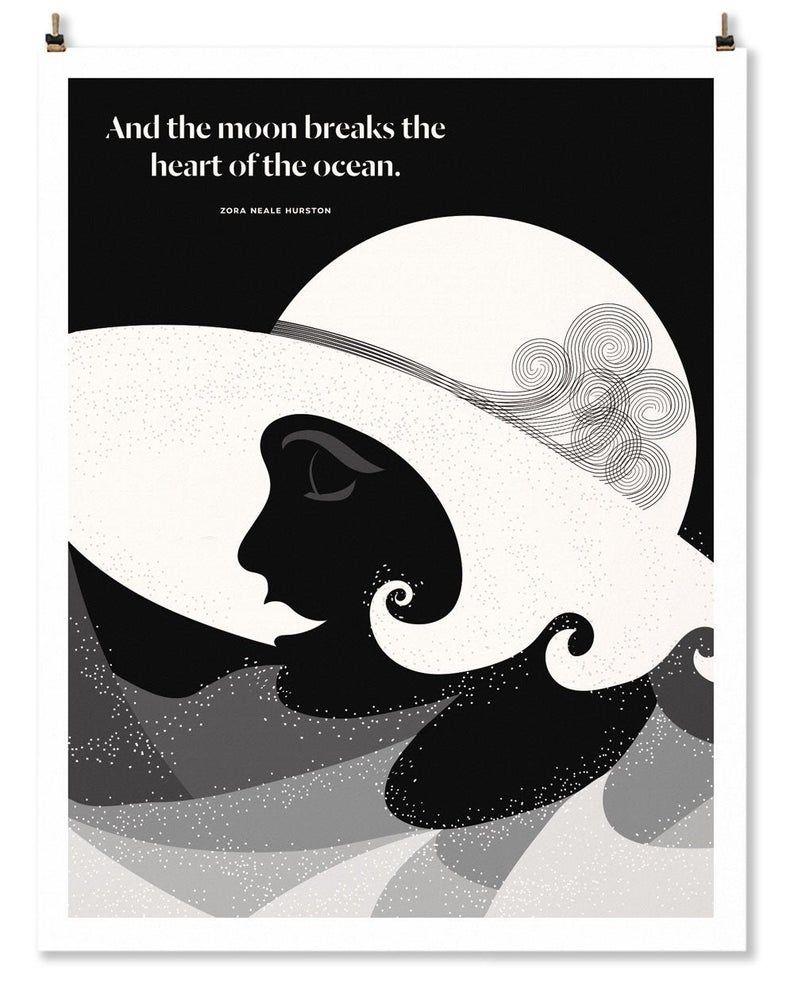 Zora Neale Hurston Literary Art Print Harlem Renaissance Etsy In 2020 Posters Essays Essay