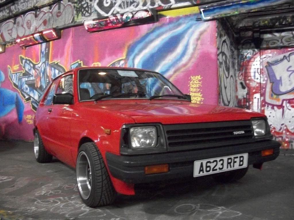 For sale i have a toyota starlet non turbo starlet engine manual 5 speed box rwd taxed and mot d resrayed in orginal colour lightened