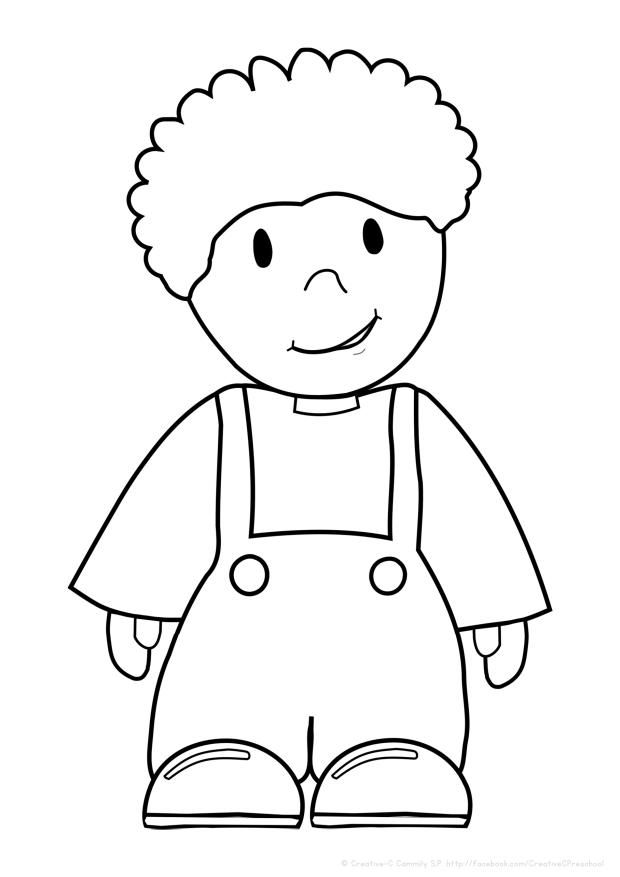 Free coloring pages girls and boys perfect for My Body theme