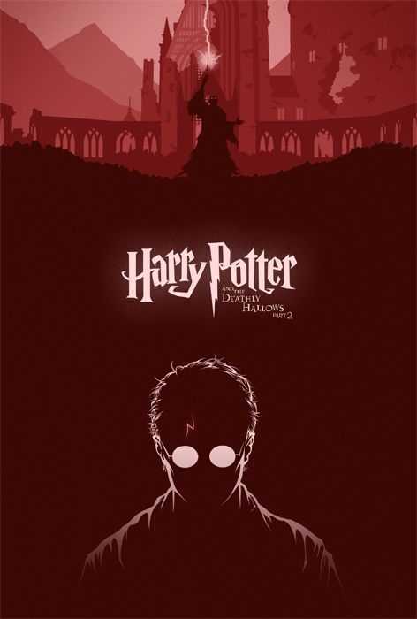 Harry Potter The Deathly Hallows Part 2 Movie Poster Cameron K Lewis Harry Potter Poster Harry Potter Deathly Hallows Deathly Hallows Part 2