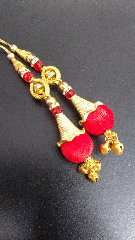 Decorative Blouse Sari Latkans Crafting Beaded Tassels Supply Sewing By 1 Pair
