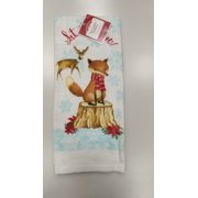 Holiday Time Fox Pigment Printed Kitchen Towel Holiday Time