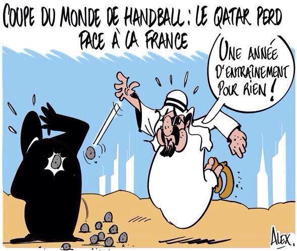 Coupe du monde de handball le qatar perd face la france par alex love handball pinterest - Qatar coupe du monde handball ...