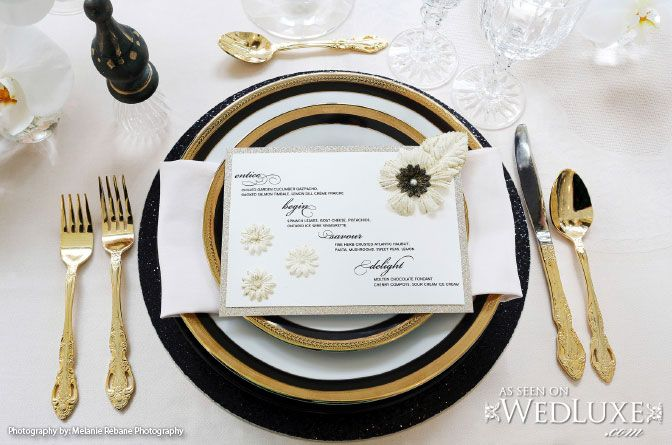 Black, white and gold wedding inspiration