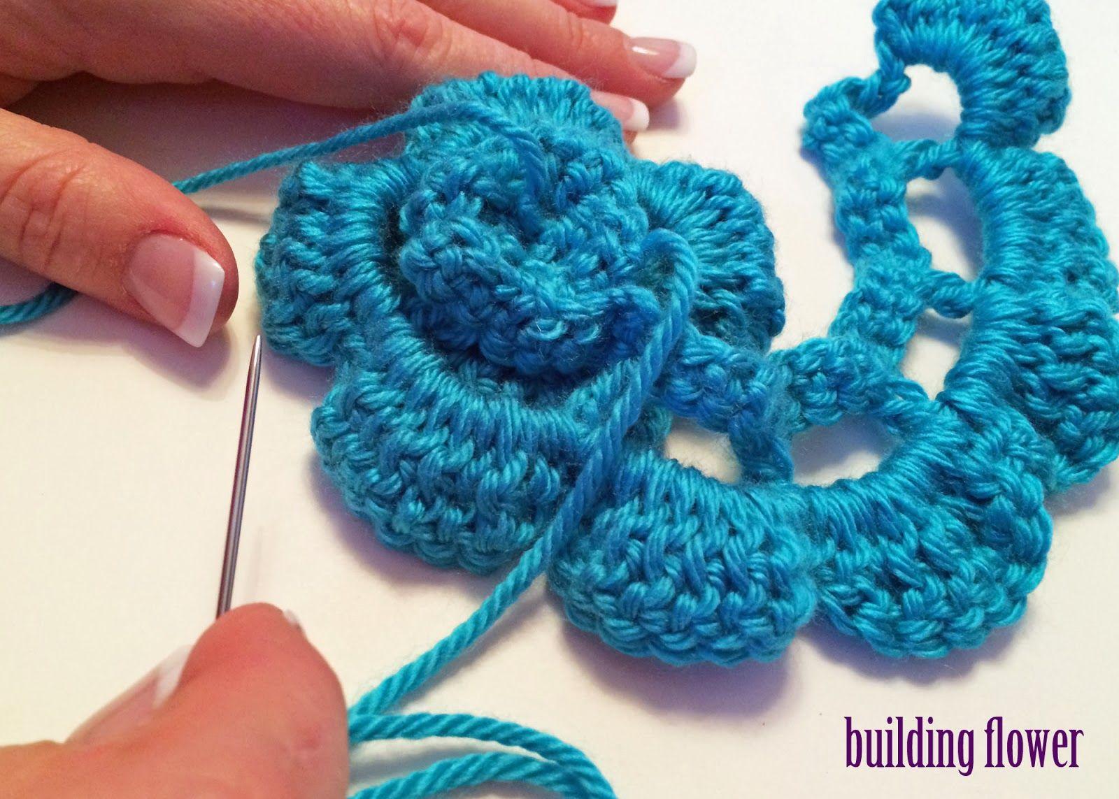 Crochet Rochelle: Double Crochet Flower   Instructions   Pinterest ...