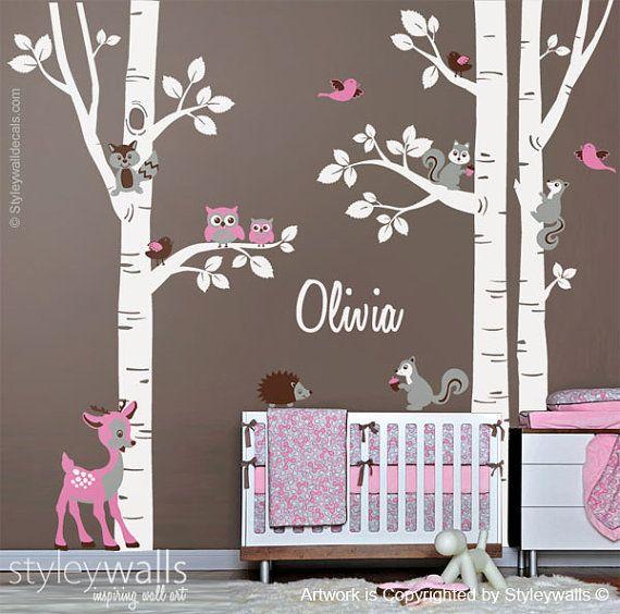 Autocollant d wall ideas Pinterest Autocollants, Chambres bébé