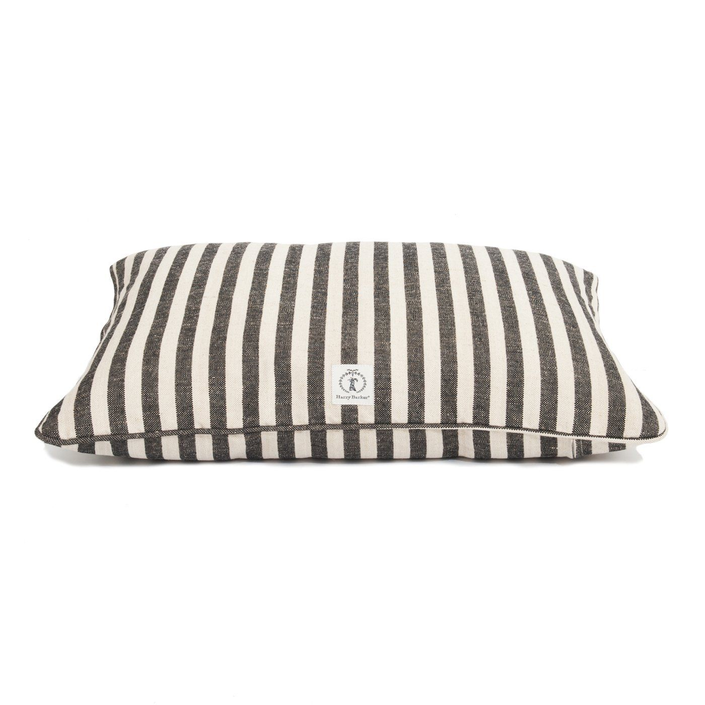 Harry Barker Large Vintage Stripe Dog Bed in Black Dog