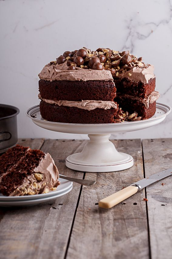 Chocolate cake with coffee buttercream.
