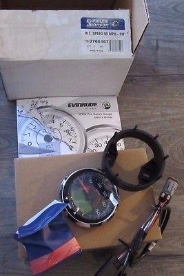 New Evinrude 3 Icon Pro LCD 50 MPG Speedometer Speed Kit E-Tec 0766161 766161