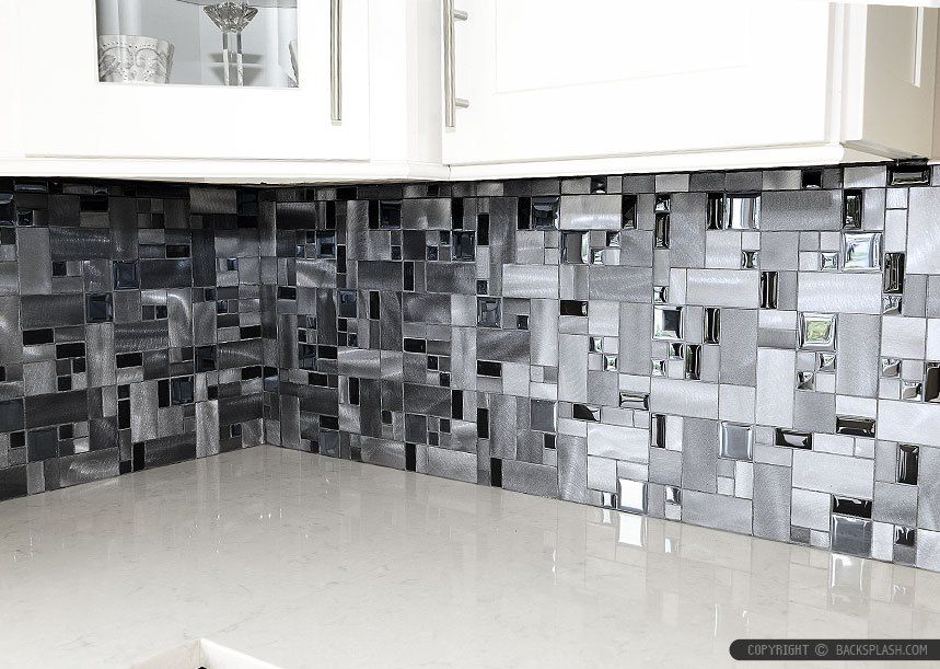 Kitchen Backsplash Vancouver modern mosaic kitchen tile backsplash feat wooden kitchen cabinet