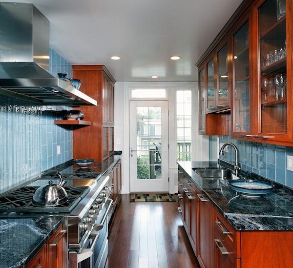 16 Galley Kitchen Design Ideas: Galley Kitchen Dark Wood