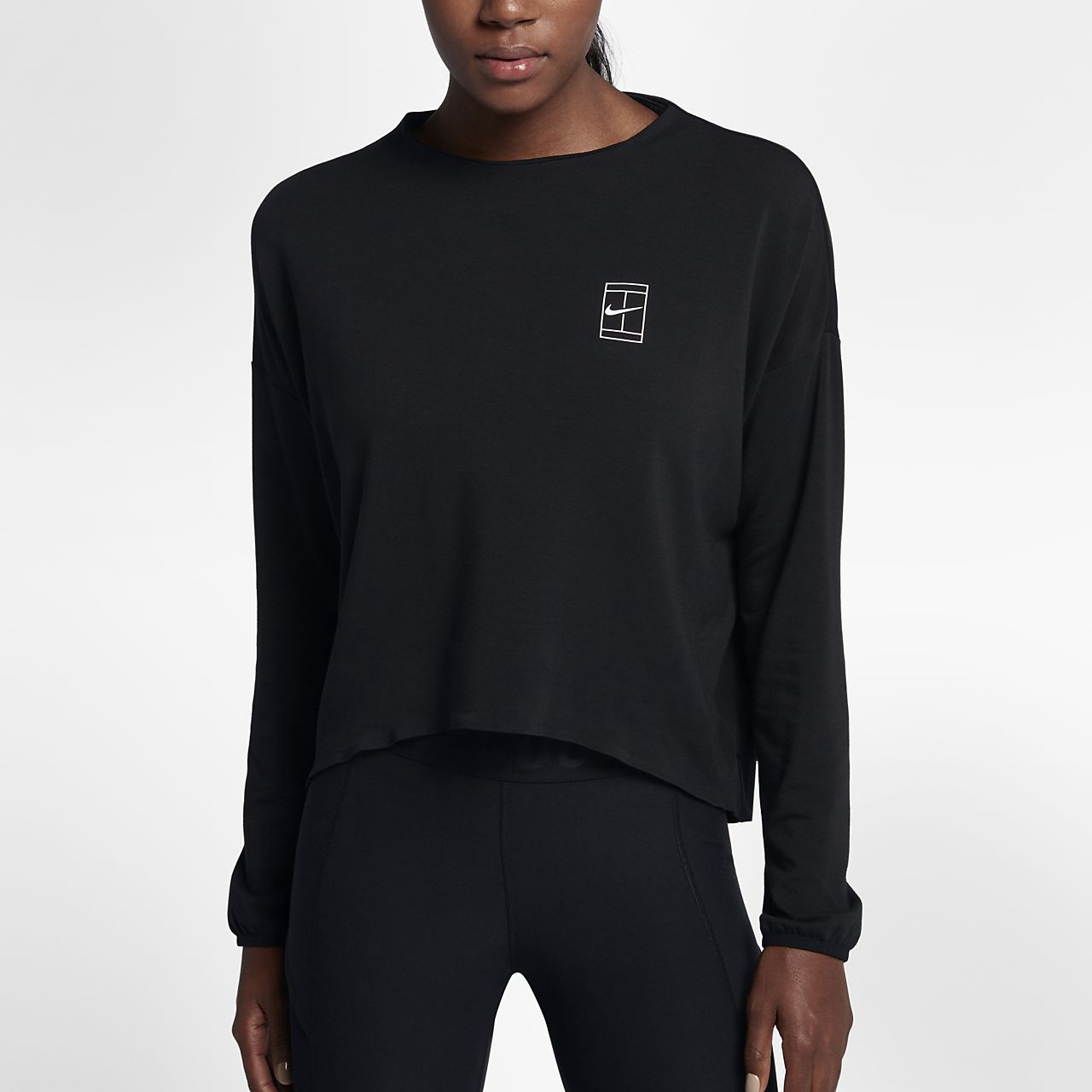Nike court drifit womens long sleeve tennis top l 12