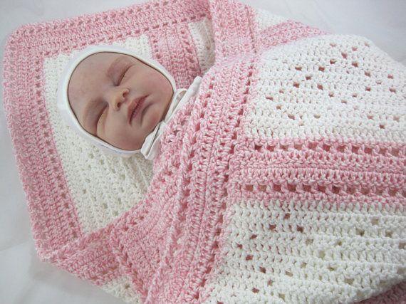 Baby Afghan, Crochet Baby Blanket, Baby Girl Blanket, Newborn Baby Afghan, Baby Shower Gift, Toddler Blanket, Christmas Gift, Lap Afghan