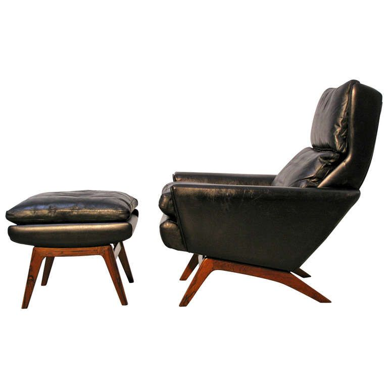 Lounge Chair And Ottoman Designed By Gustav Thams For A S Vejen Ca 1960 Denmark Chair And Ottoman Mid Century Chair Ottoman