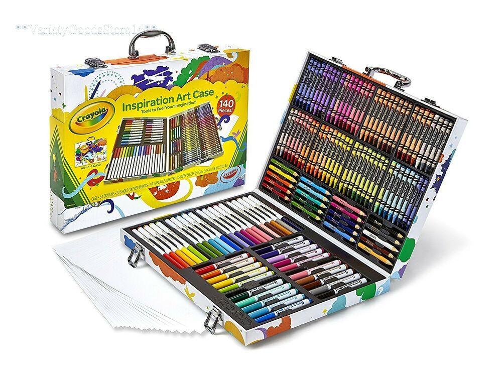 Large Art Set Kids Drawing Coloring 140 Pc Kit Crayons ...