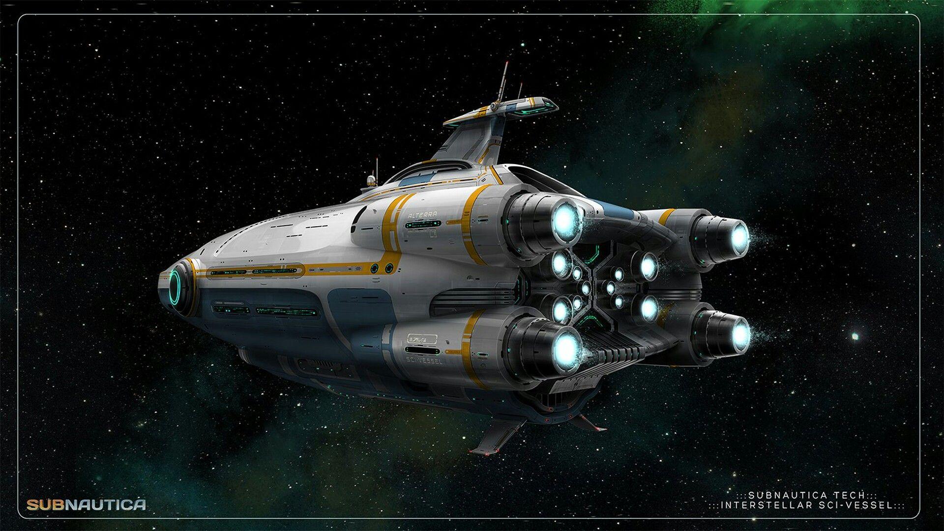 Aurora artwork starship concept subnautica concept art