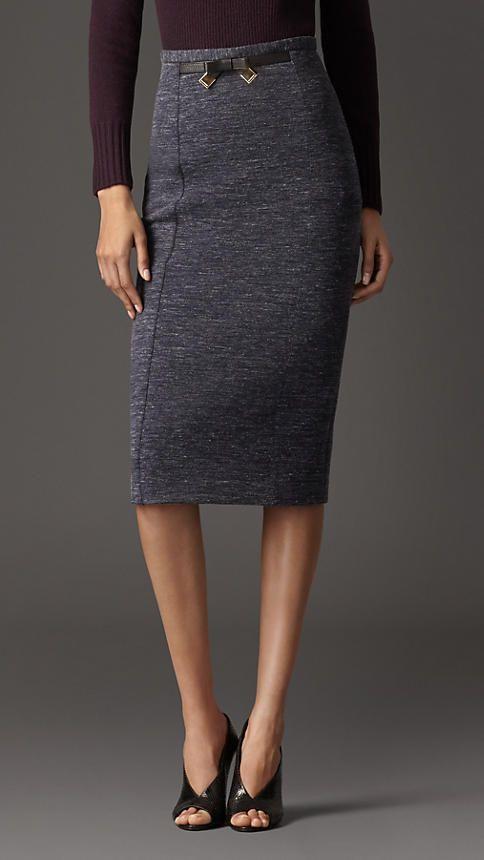 Wool Blend Pencil Skirt | Burberry