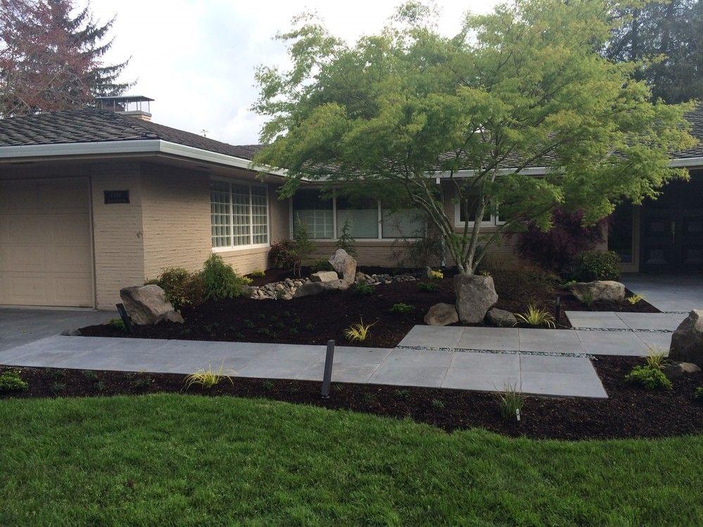 Mid Century Modern Landscape Design | Ross NW Watergardens | Portland - Mid Century Modern Landscape Design Ross NW Watergardens