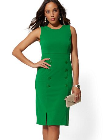be7935584 Shop Button-Accent Sheath Dress - Magic Crepe. Find your perfect size  online at