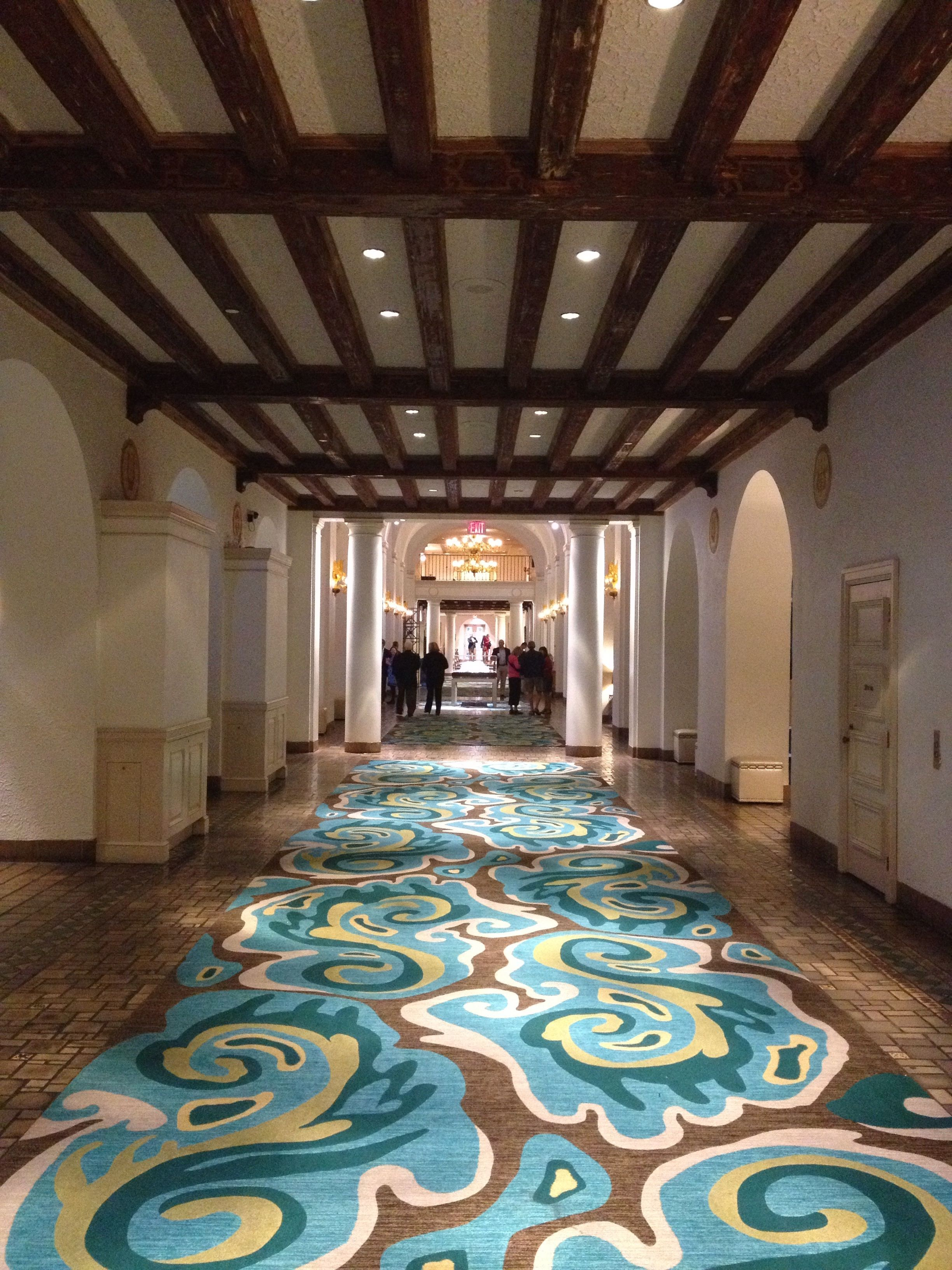 Long look at the lobby of the renaissance vinoy in downtown st pete