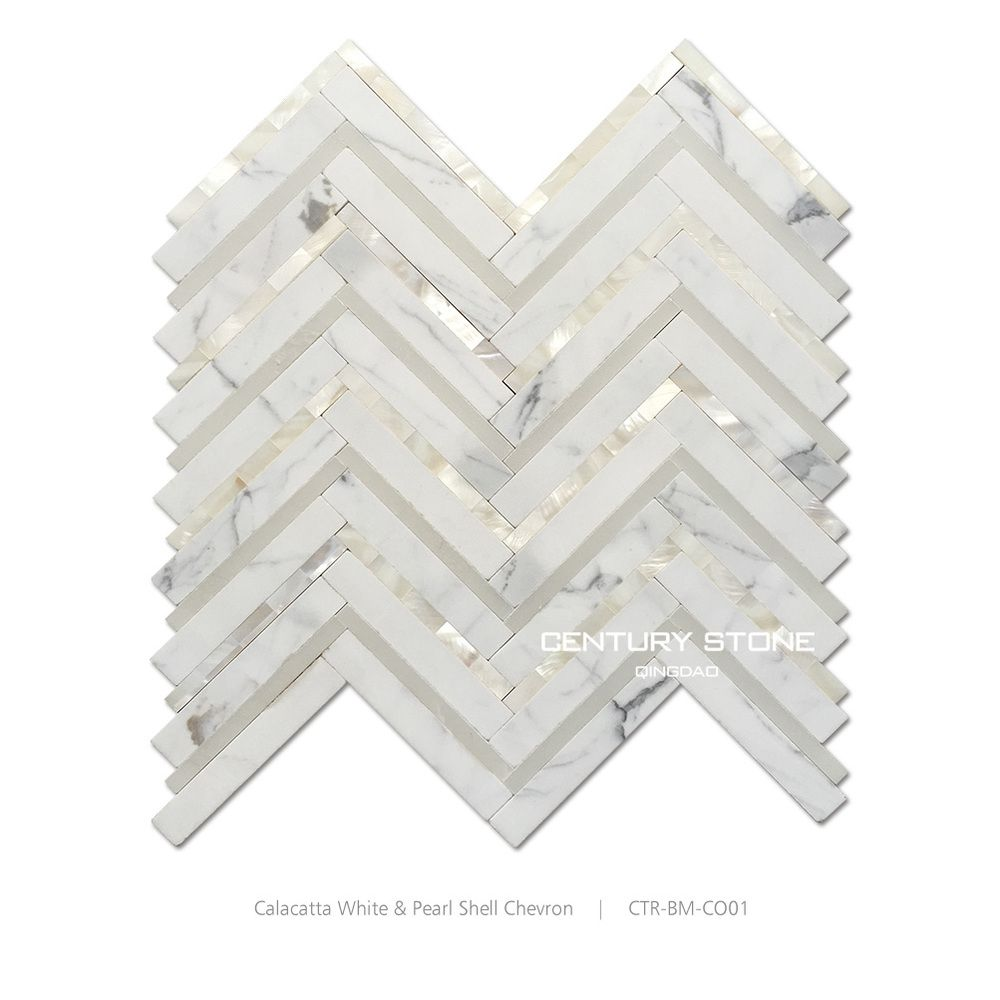 Italian calacatta white marble and mother of pearl shell mosaic italian calacatta white marble and mother of pearl shell mosaic tile backsplash doublecrazyfo Images