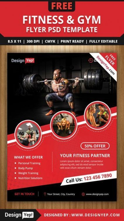Trendy fitness gym poster flyer template Ideas #fitness
