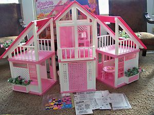 High Quality Barbie Dream House Instructions On Barbie Dream House W Furniture Box  Instructions Complete Ebay