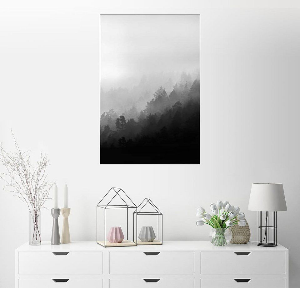 Einfaches wohnmöbel design posterlounge wandbild  mareike böhmer photography misty mornings